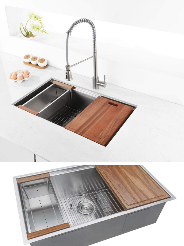 Will This Be My Last Kitchen Sink Maybe The Workstation Add On Is Superb Home Decor Barbomba Sink Kitchen Sink Kitchen Sink Faucets