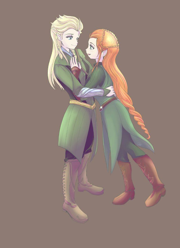 Elsanna - Crossover Legolas Tauriel by kei111 on DeviantArt | THERE ...