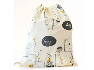 GIVE JOY (Yellow/Grey) gift bags