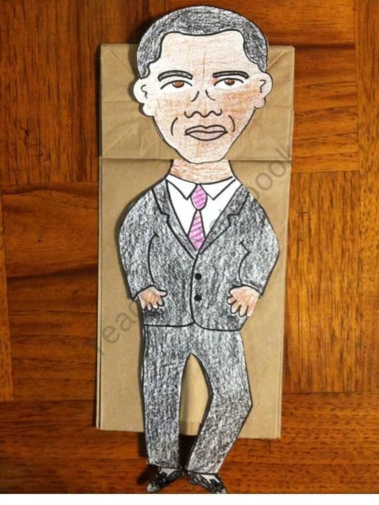 President Obama Paper Bag Puppet Paper Bag Puppets
