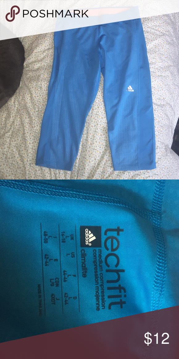 Adidas Climalite Techfit workout capris Never worn! Washed once. Adidas Pants Capris