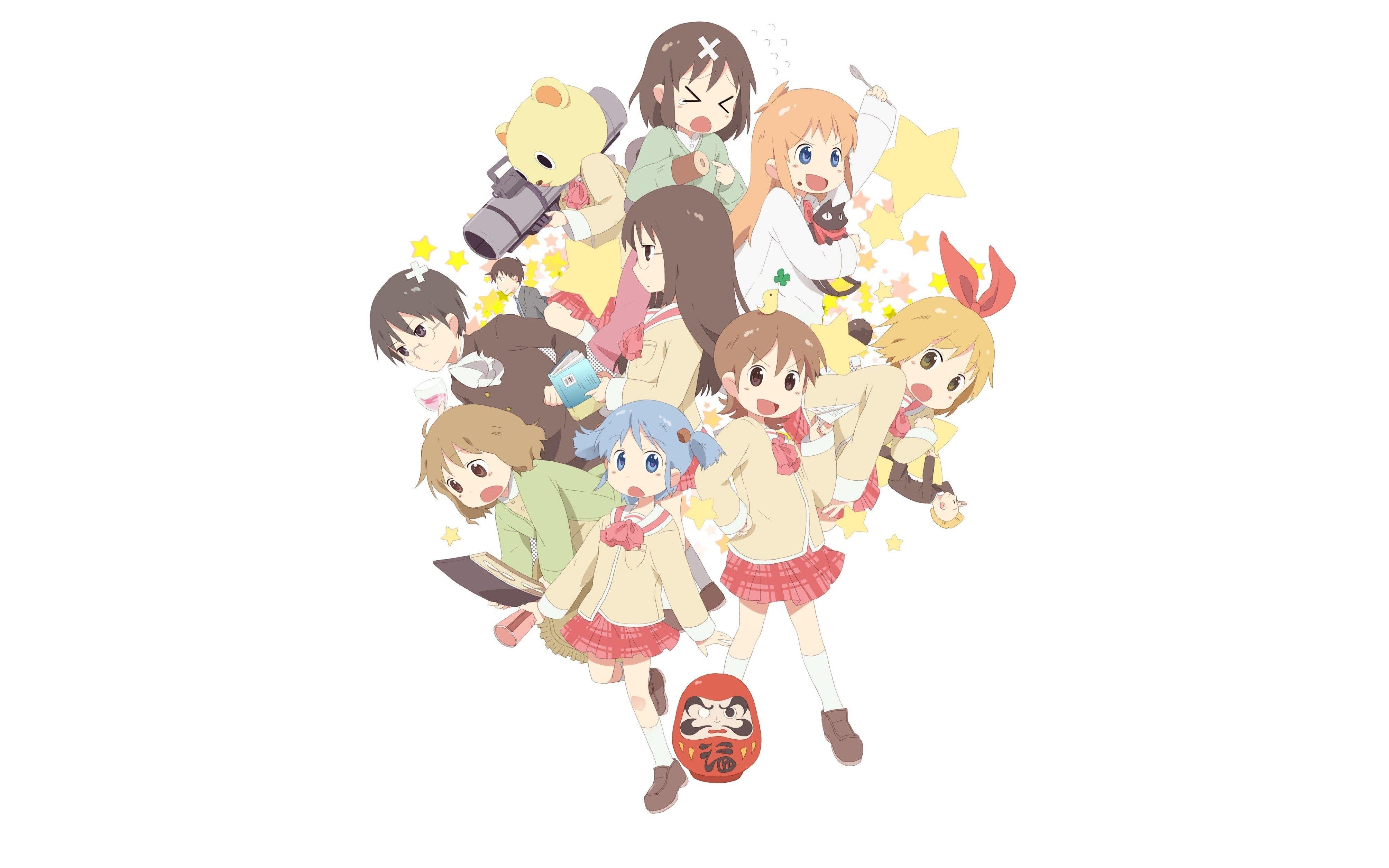 Anime 4016x2510 nichijou naganohara mio aioi yuuko mai