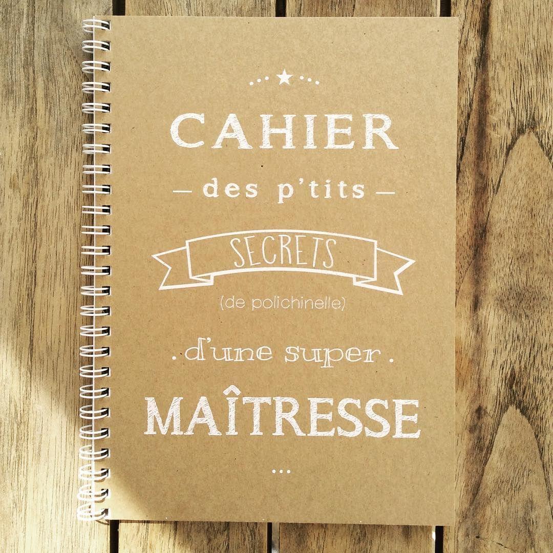 """98 mentions J'aime, 1 commentaires - Marcel & lily (@marceletlily) sur Instagram: """"Un joli cahier pour la maîtresse qui doit avoir des petits secrets de polichinelle …"""""""
