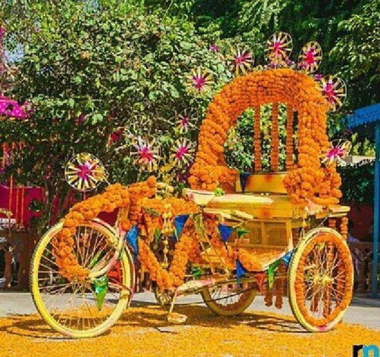 Prop Idea # Indian Wedding # Selfie Booth # Rickshaw