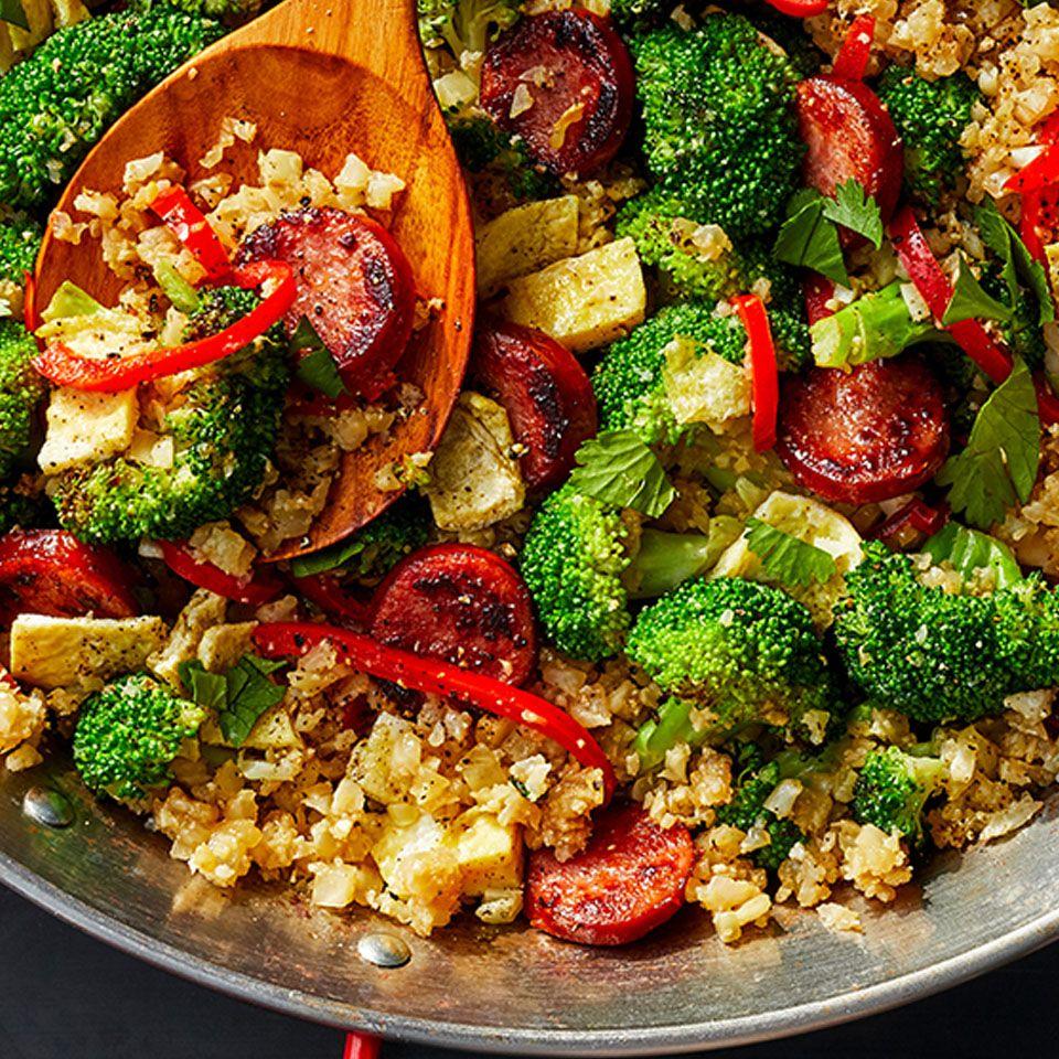 Broccoli Rice And Sausage Dinner Recipe: Smoked Sausage And Cauliflower Fried Rice
