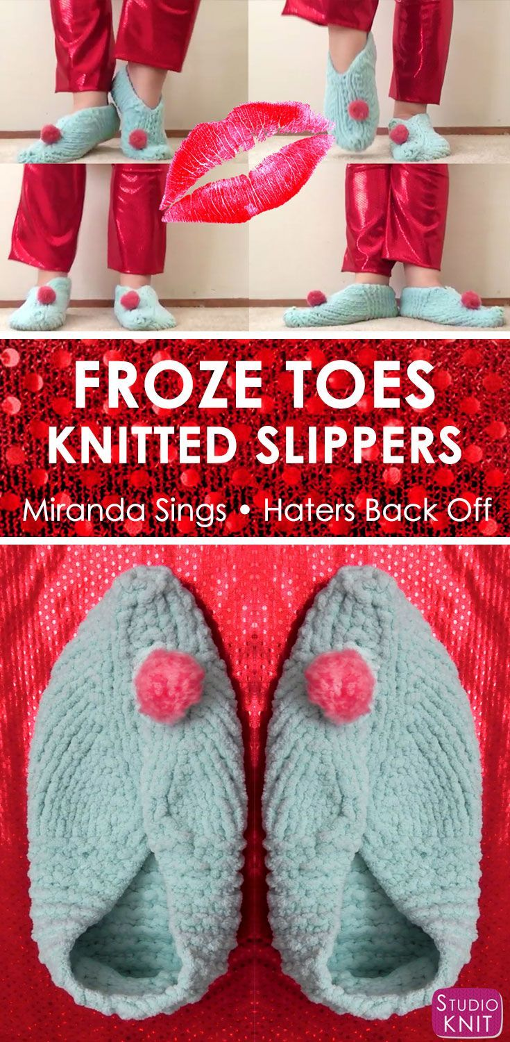Froze toes knitted slippers miranda sings haters back off froze toes knitted slippers miranda sings haters back off bankloansurffo Choice Image