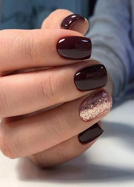 20 Outstanding Holiday Winter Nails Art Designs 10 Gold Nails Sophisticated Nails Wine Nails