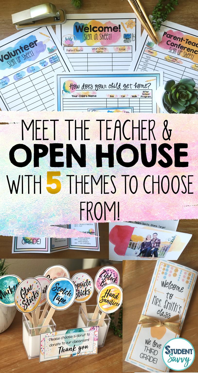 Ideas for Open House and Meet the Teacher Night! #meettheteachernight