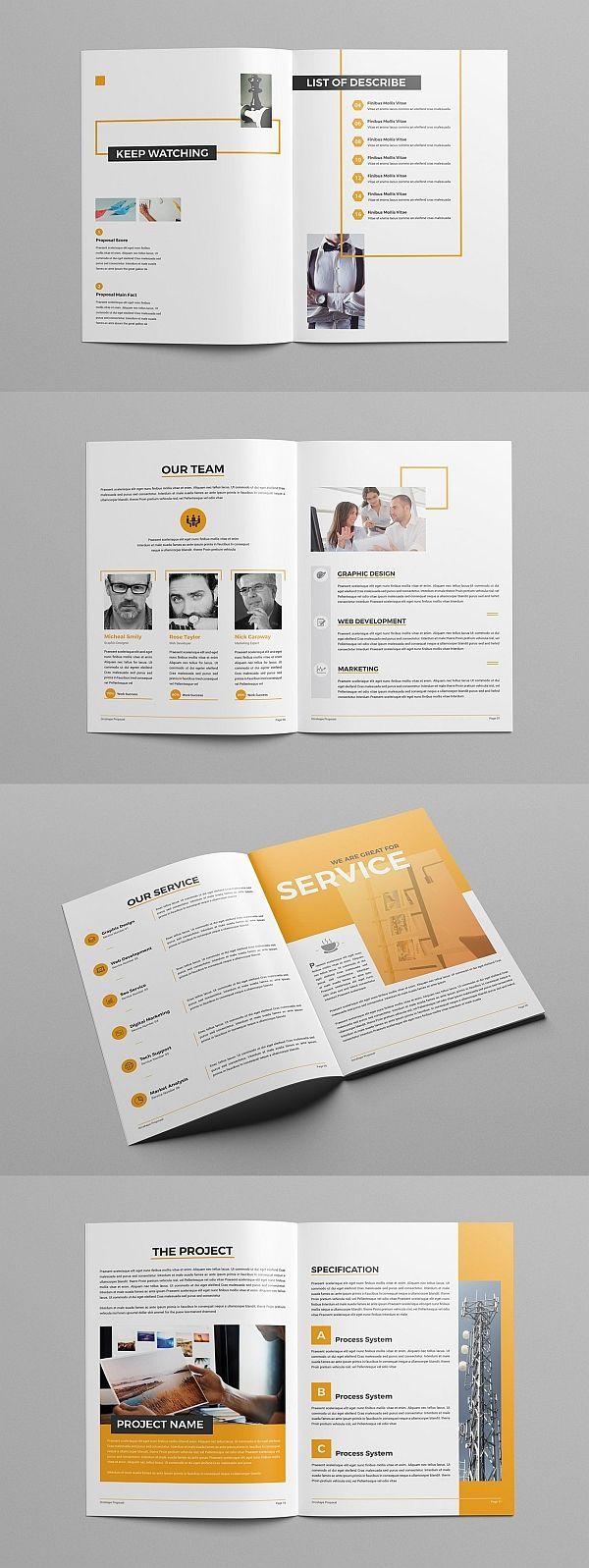 Proposal   Brochure Templates   Booklet Design, Design, Proposal