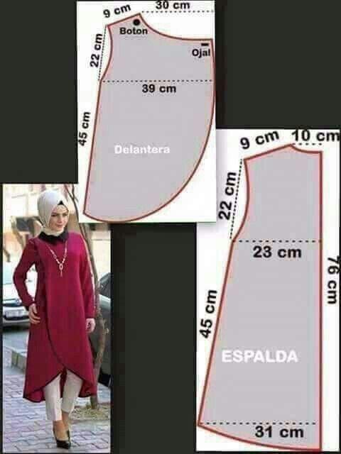 Pin de SEVİL ORAL en Women\'s fashion | Pinterest | Molde, Costura y ...