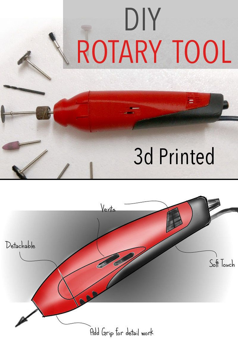 3d printed diy dremelstyle rotary tool 3d printing diy