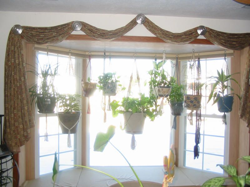Fresh Natural Home Interior Hanging Garden Curtain Ideas For Large Windows