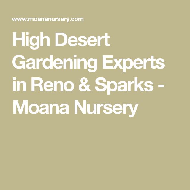 High Desert Gardening Experts In Reno Sparks Moana Nursery