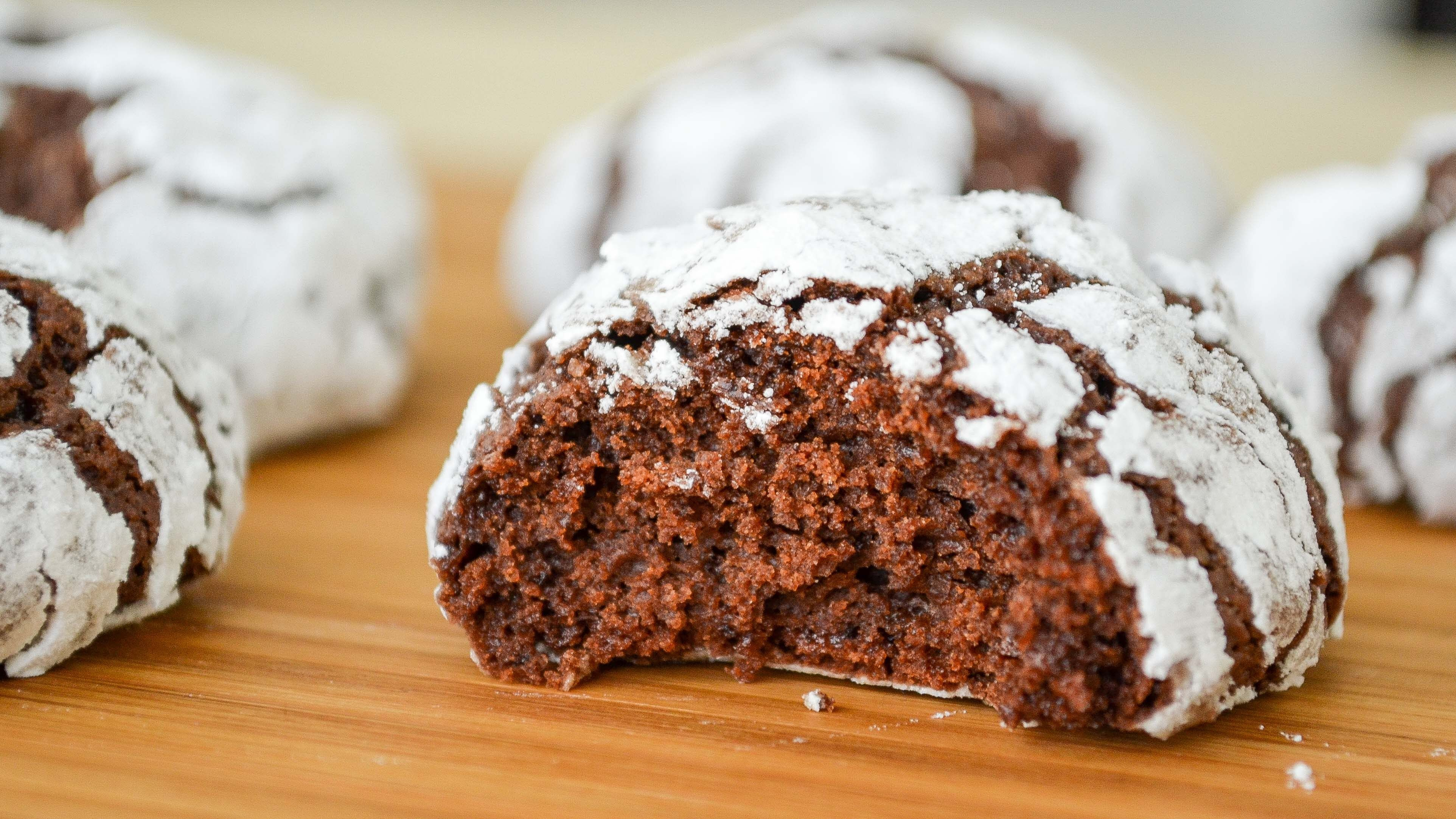 Galletas Craqueladas de Chocolate ✩ Receta super Fácil    Tan Dulce ...
