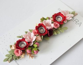 Ranunculus Flower Headband by littleflohra on Etsy #feltflowerheadbands