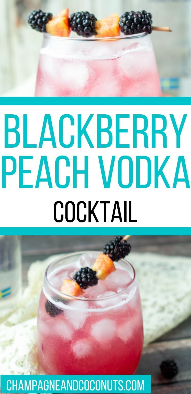 Blackberry Peach Vodka Cocktail Recipe In 2020 Peach Vodka Vodka Cocktails Peach Vodka Drinks
