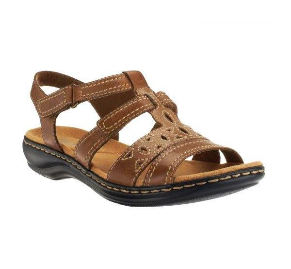d0358c0b25e0 CLARKS Bendables  Leisa Apple  Leather Multi-Strap Women s Sandals TAN 9  1 2 NIB