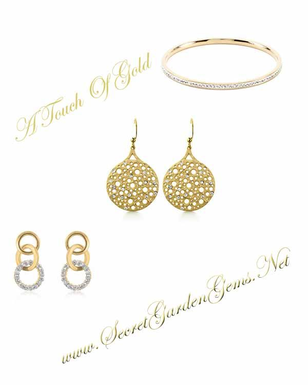 All that Glitters a Touch of Gold Jewelry Secret Garden Gems NY