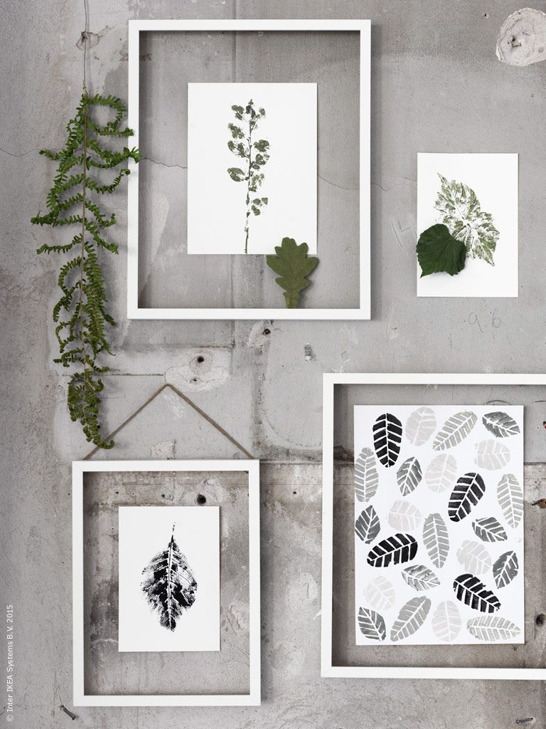 3 Autumn Inspired Ikea Hacks From The Stylists At Ikea Botanical Wall Art Ikea Hack Ikea Ribba Frames