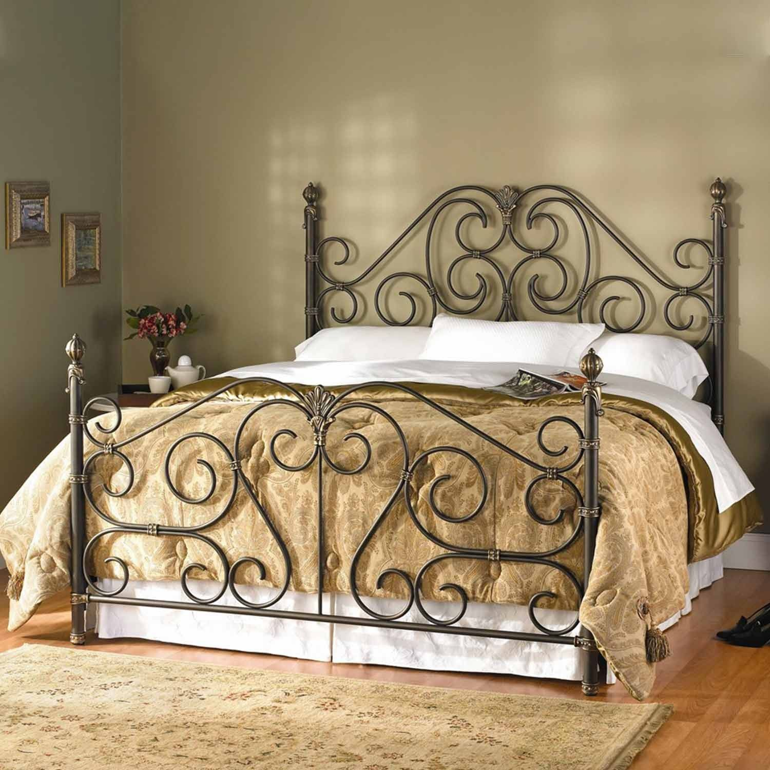 Aberdeen Iron Bed by Wesley Allen Aged Bronze Finish