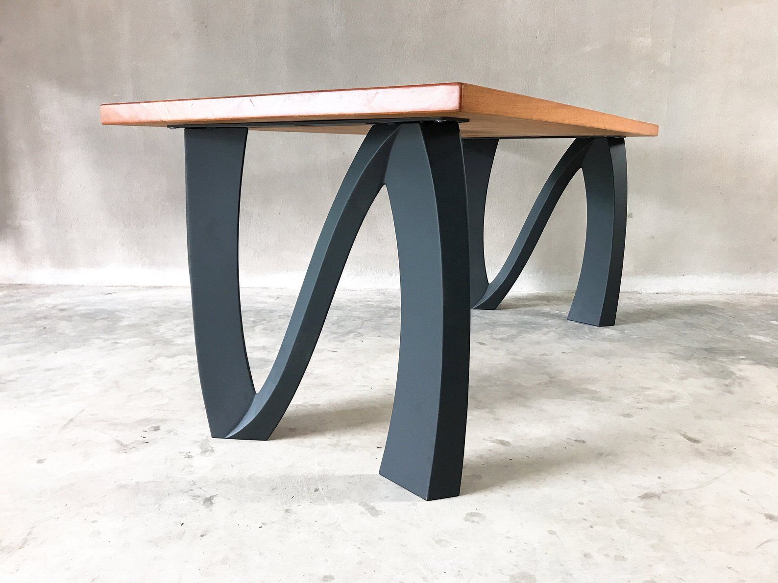 Metal Table Legs Set Of 2 Modern Industrial Dining Table Epoxy