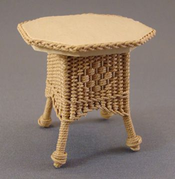 End Table with Eiffel Tower Base