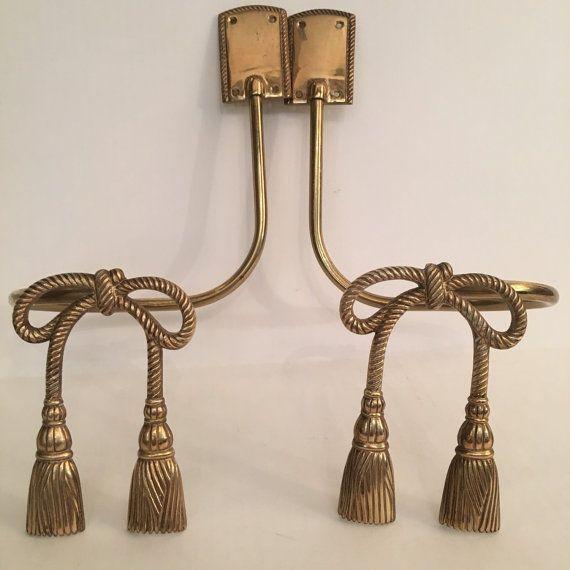 vintage brass tassel bow curtain tie