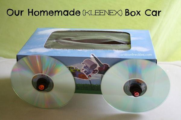 crayonfreckles our homemade kleenex box car & crayonfreckles: our homemade kleenex box car | DIY for the ... Aboutintivar.Com