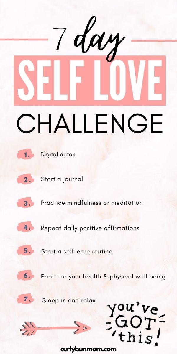 7 Day Self Love Challenge - Curly Bun Mom