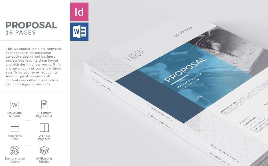 35 Business Proposal Template Word Docs Download Texty Cafe Proposal Business Proposal Template Brochure Design Template