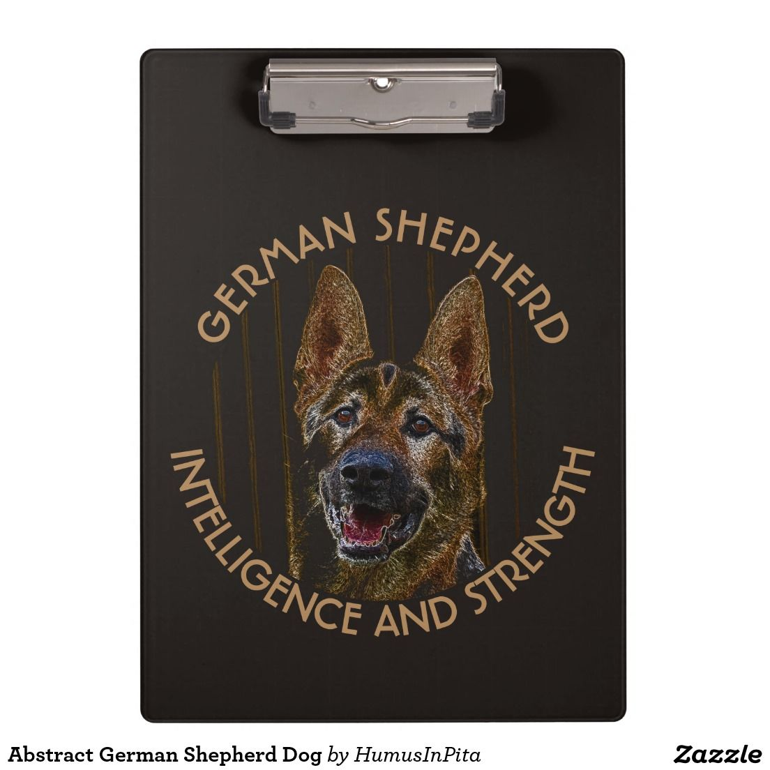Abstract German Shepherd Dog Clipboards