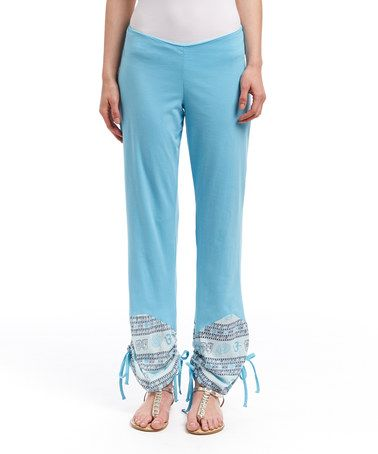 This Blue Sanskrit Patchwork Pants by Blue Sky is perfect! #zulilyfinds