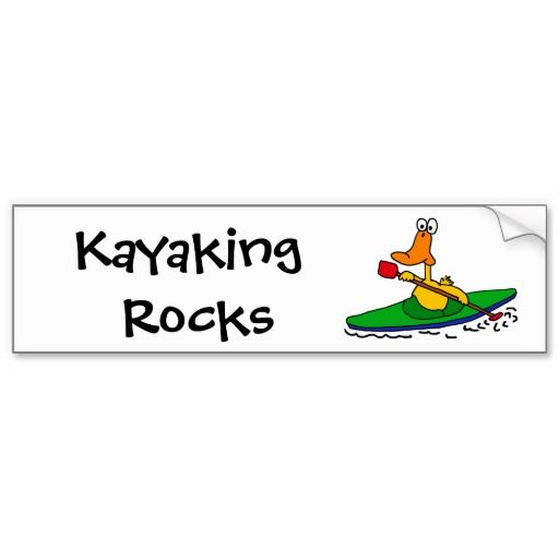 Bv funny kayaking duck bumper sticker