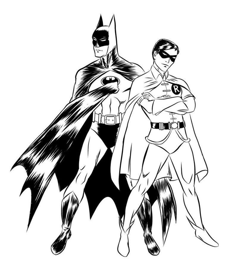 Batman And Robin Coloring Pages For Kids Batman