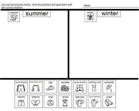 Resultado de imagen de summer clothes activities for preschoolers ...