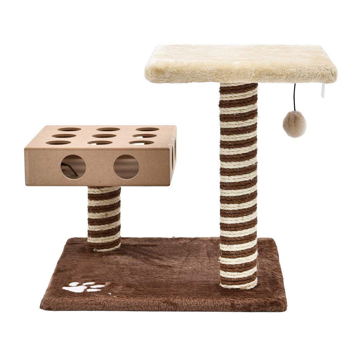 Casarkiya Mini Cat Scratching Post Fun Cat Tree With Ball For Cat Kitten Small Animals 05 Thanks A Best Interactive Cat Toys Interactive Cat Toys Cat Toys