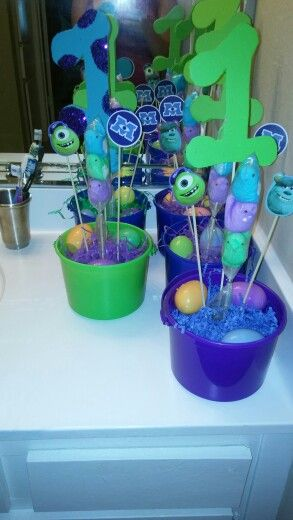 Monsters inc easter baskets centerpiece ideas pinterest easter baskets centerpiece negle Image collections