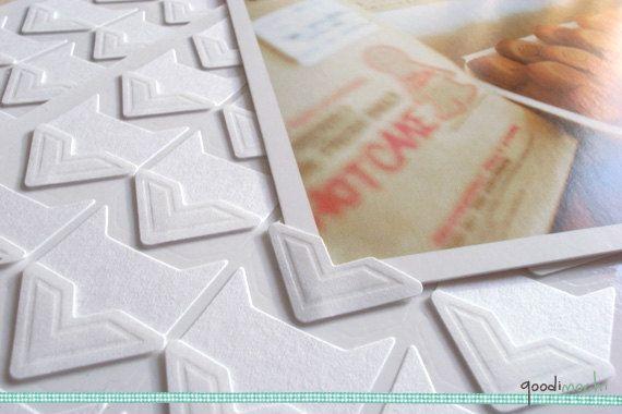 White photo corner stickers scrapbook par goodimochi sur etsy 2 20