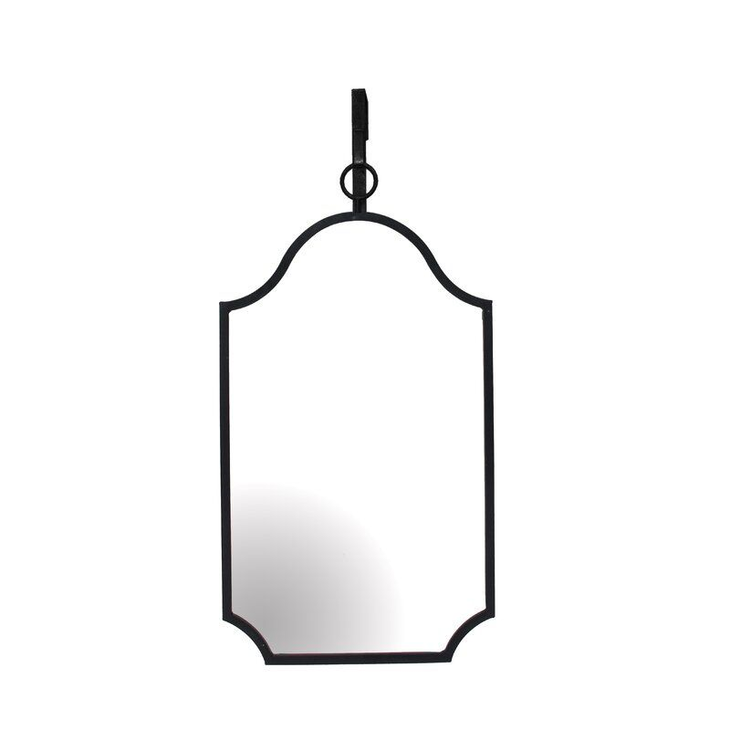 Cherelle Metal And Glass Wall Accent Mirror Hanging Mirror Mirror Accent Mirrors