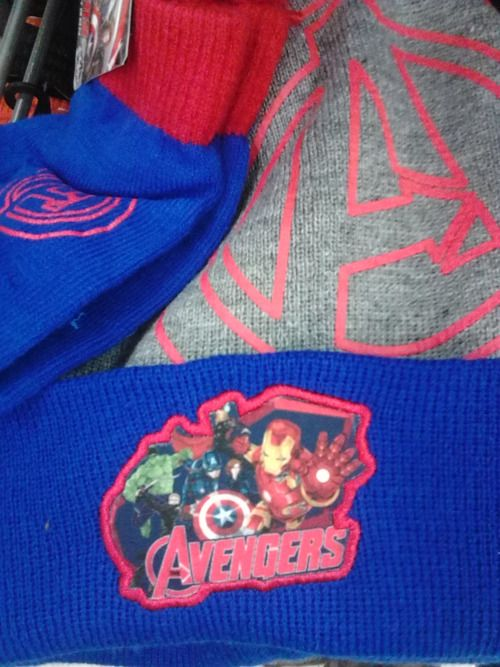 9fb3cb47311 What  Avengers  Age of Ultron hat and glove set. The hat includes Black  Widow and HawkeyeSpotted at  Kmart