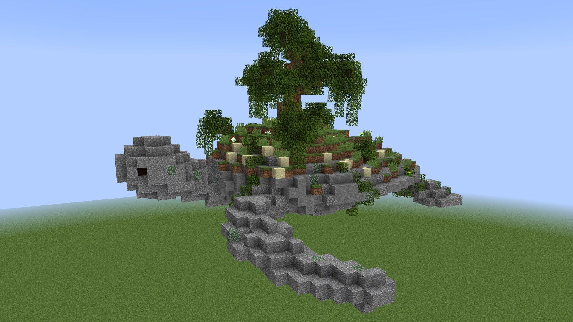 Wacky Builds: Turtle Island! - YouTube  Minecraft blueprints