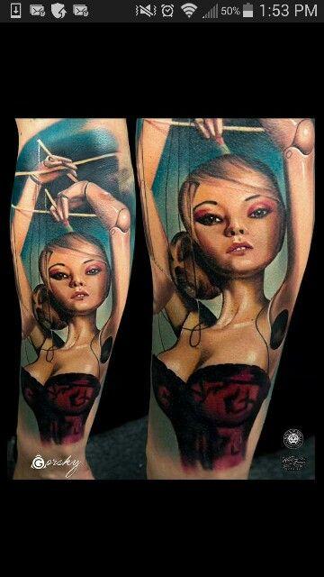 Realistic Marionette Tattoo Tattoos Tattoo 5