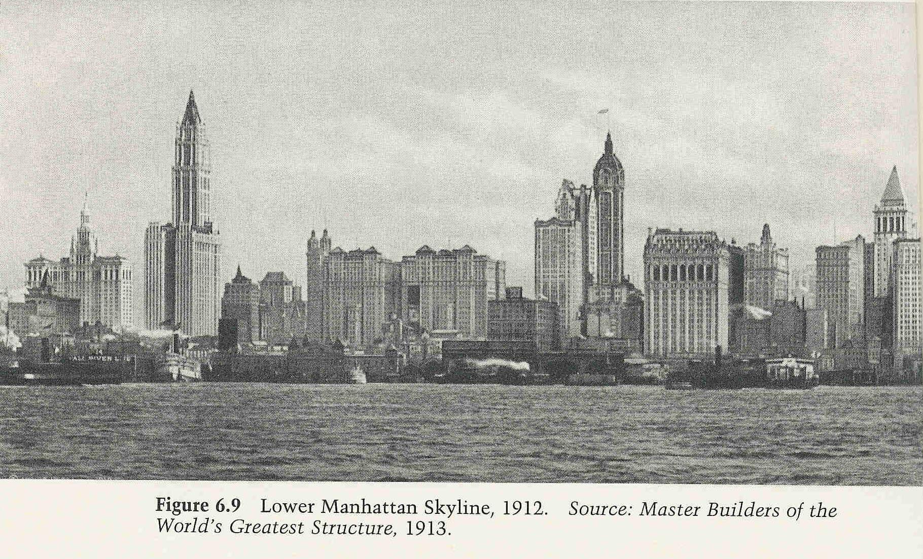 Lower Manhattan Skyline 1912