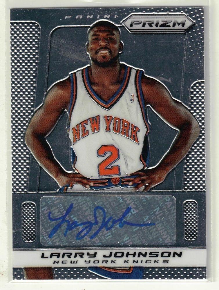 201314 prizm basketball larry johnson autographed card