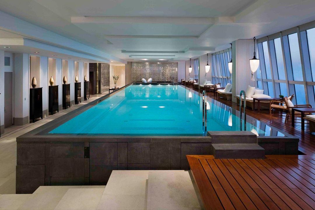 Park hyatt shanghai indoor pool pinterest shanghai - Shanghai infinity pool ...