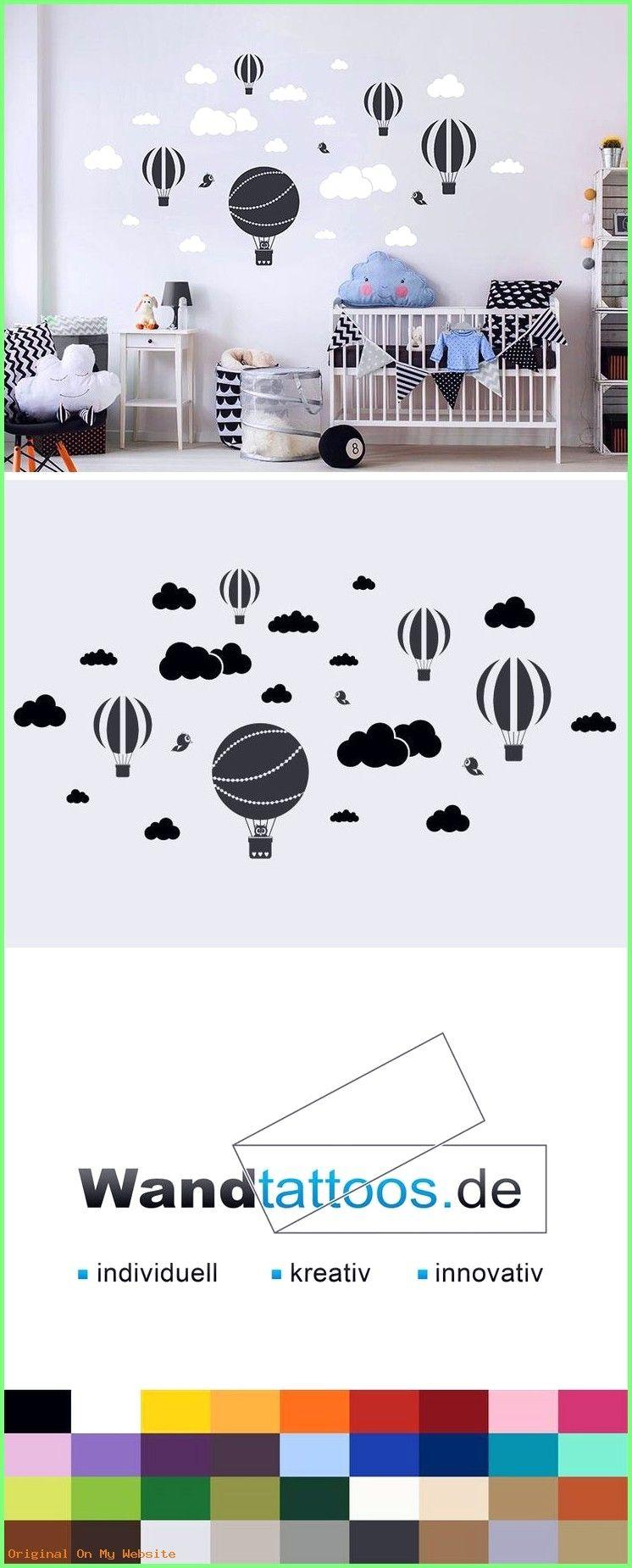 Baby Kinderzimmer Junge Wandtattoo Heißluftballons mit