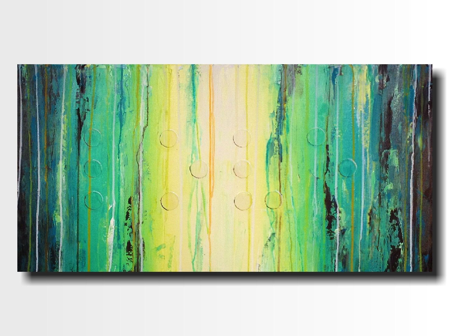 Original Large Abstract Braille painting - 18 X 36 Inches-by ...