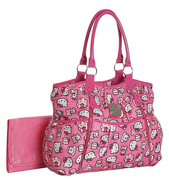46d328f166 Hello Kitty Allover Print Front Zip Diaper Bag - Best Price