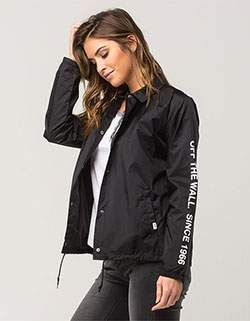 6ec527b1de VANS Thanks Coach 66 Womens Jacket Black