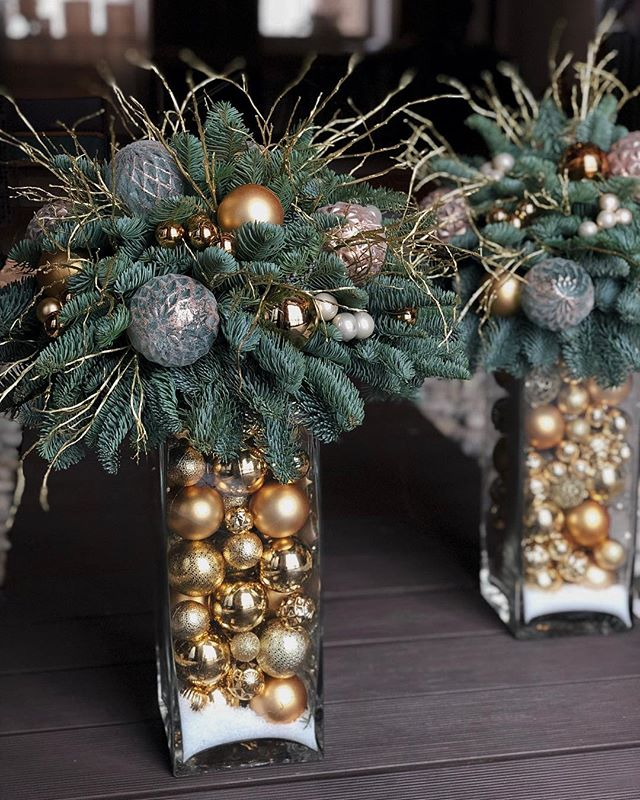 "Photo of Instagram Decor Studio: ""Interior New Year   #Decor #Floralarrangementsdiy #Inst…"